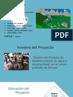 Grupo 6- Diseño de abastecimiento de agua en el centro poblado de Sihuas