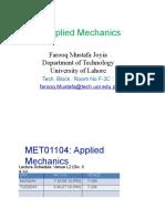 Lecture 1 App. Mechanics