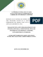 Propuesta SCI Área Financiera