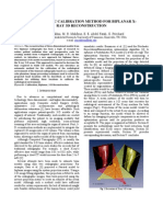 An Automatic Calibration Method for Biplanar X-Ray 3D Reconstruction