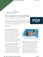 ib scholarships