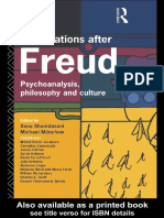 Speculations After Freud Psychoanalysis, Philosophy and Culture by Michael Munchow, Sonu Shamdasani