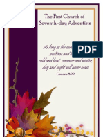 First Church of Seventh-day Adventists 2010 Fall Bulletin