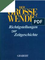 Kosiek Rolf u Rose Olaf Der Grosse Wendig Richtigstellungen Zur Zeitgeschichte Band 2