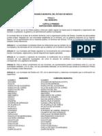 Ley Orgánica Municipal del Estado de México