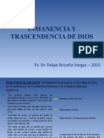 INMANENCIA Y TRASCENDENCIA DE DIOS