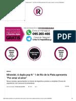 """Miranda!, A dupla pop N ° 1 de Río de la Plata apresenta """"Por amar al amor"""" _ Jornal La República"""