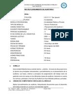 SILABO PLANEAMIENTO DE  AUDITORIA 2020 I