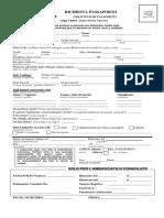 formulario para passaporto italiano embajada de Italia Bogota