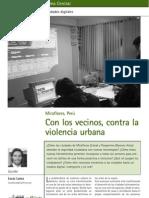 Con los vecinos, contra la violencia urbana. Articulo revista Gobierno Digital