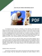 Papa Francisco Maria