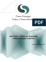 manual de apoio a formacao - ufcd 0626 - posto de trabalho - organizacao e gestao