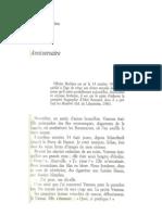 Anniversaire, nouvelle littéraire d'Olivier Mathieu, parue en 1986 dans la Nouvelle Revue de Paris
