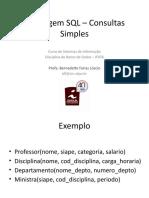 Aula - Conceitos básicos de SQL (consultas)