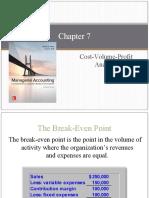 Chapter 7. Cost Volume Profit Analysis