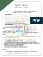 Série CorrigéeNotion Déquilibre Chimique Loi Daction de Masse La Loi de Modération 1