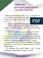 Résumé de Cours Sur La Variation Du PH Au Cours Dune Réaction Entre Un Acide Et Une Base