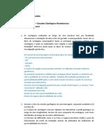 Lista de Exercícios 3 – Estudos Geológico-Geotécnicos - Sandro Paixão