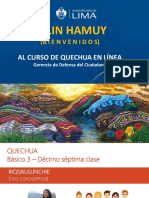 PPT Clase 17 - Quechua