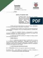 Edital n° 025-2021-GRE Alteração do modo de apresentação da Prova Didática e altera as datas do cronograma