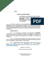 Edital Nº 024-2021 – GRE – Suspensão Do Cronograma Do 3PSS – Docente