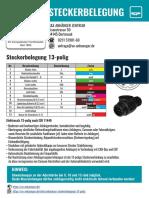 Anhaenger Steckerbelgung 13 Pin