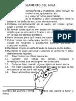REGLAMENTO DEL AULA