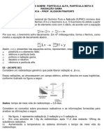 Lista de Exercícios – Reação de Transmutação Nuclear (Partícula Alfa, beta e gamma)