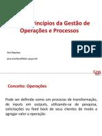 Aula 1 Principios da Gestão de Processos e Operações