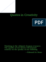 Quotes in Creativity