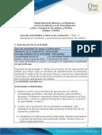 Guía de actividades y rúbrica de evaluación - Unidad 3 - Fase 4 - Aplicación de conceptos y ecuaciones de operaciones con sólidos