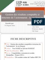 PPT Gestion Du Résultat Comptables Et Structure de l'Actionnariat Le Cas Français.