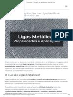 Propriedades e Aplicações das Ligas Metálicas _ Materiais Júnior