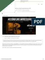 História Das Impressoras 3D - DOne 3D