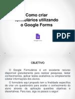 Uso Do Google Formularios