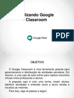 Uso Google Classroom