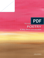 (Very Short Introductions) Bernard O'Donoghue - Poetry_ A Very Short Introduction (Very Short Introduct (1)