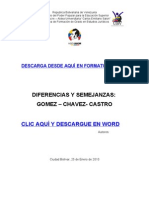 Diferencias y Semejanzas Gomez - Castro - Chavez