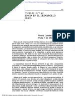 Artículo 123 Constitucional y Su Influencia en El Desarrollo de Mexico