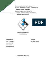 REGLAS DE FORMACIÓN Y DE INFERENCIA