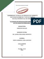 7.- Ley de Garantía Mobiliaria - Actividad de Investigación Formativa
