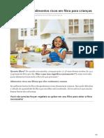 Os 10 Melhores Alimentos Ricos Em Fibra Para Crianças