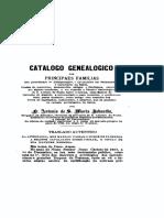 Catálogo Genealógico das Principais Famílias (Frei Jaboatão, 1768)