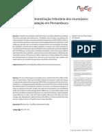Esforço fiscal dos municipios pernambucanos