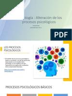 Alteraciones de  los procesos psicológicos - Semiología-1