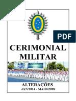 Alterações no Cerimonial Militar do Exército