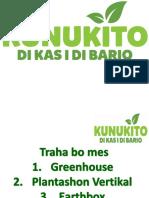 Agrikultura Les # 3 Traha bo mes Greenhouse, Plantashon Vertikal, Earthbox. Kunukito di Kas i di Bario (Otrabanda)