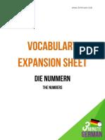3-Minute-German-Die-Nummern