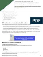 Comunicación horizontal y vertical_ ventajas e inconvenientes - Conecta