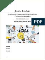 Cuadernillo de trabajo 12-18 años Marzo-Mayo 2021